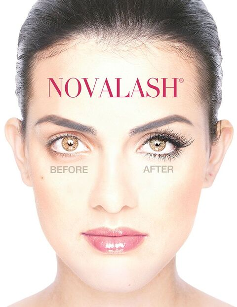 Before and After of NovaLash Eyelash Extensions